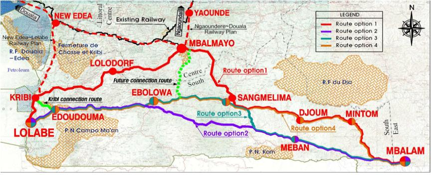 Supplemantary master plan and feasibility study for Cameroon railway