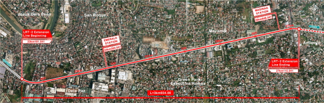 Consulting/Engineering services for civil works of the LRT line2 east(Masinag) extension project